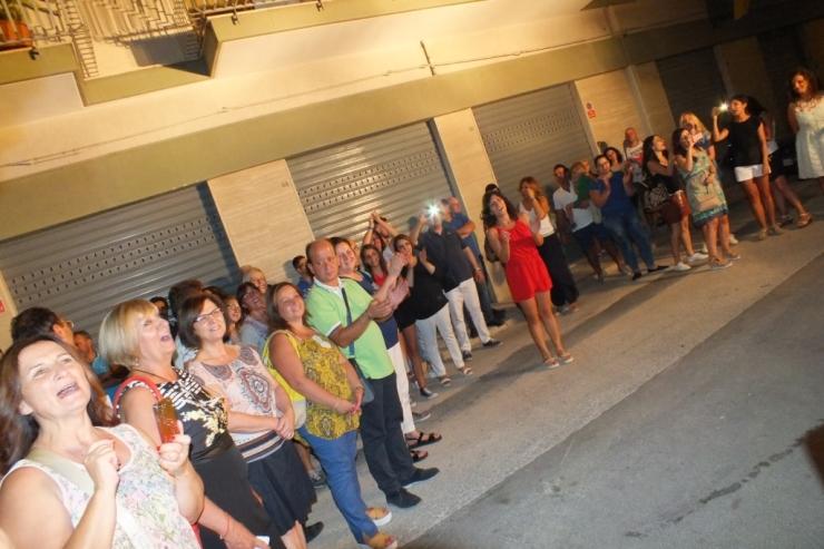 Paolo e Dalila live a Corato in provincia di Bari per cantare ad una serenata