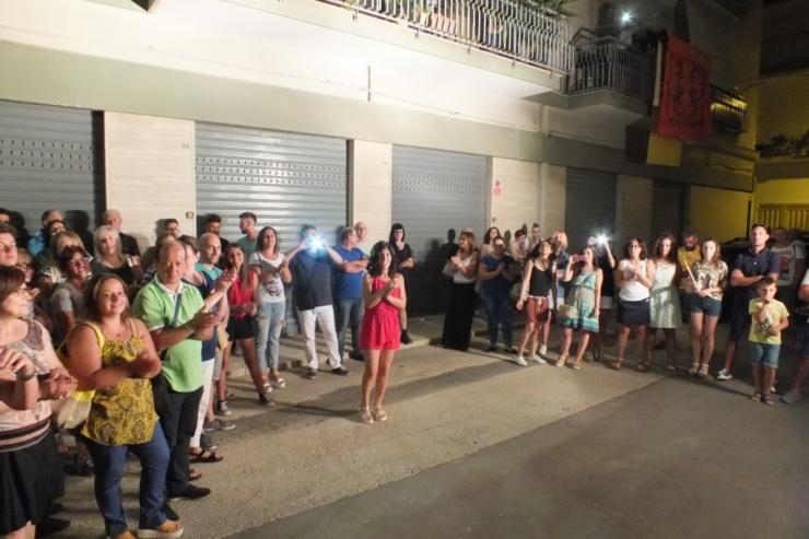 La serenata fatta con la musica di Paolo e Dalila Live a Corato in provincia di Bari