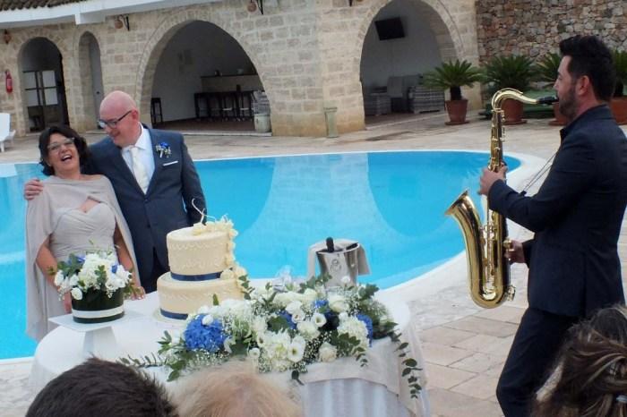 Sax taglio torta sposi musica