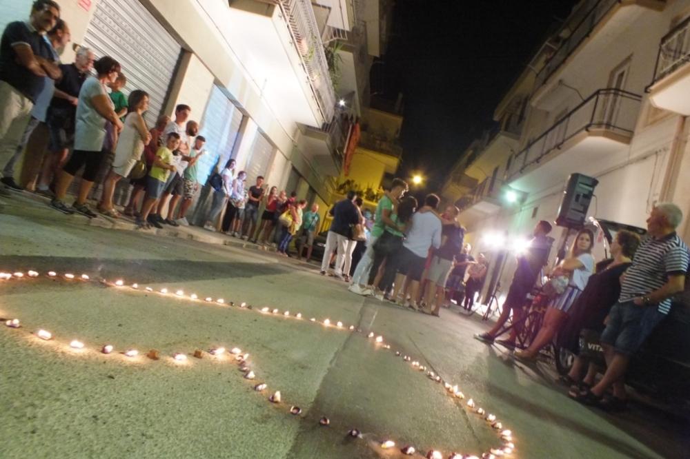 La serenata organizzata a Corato in Provincia di Bari