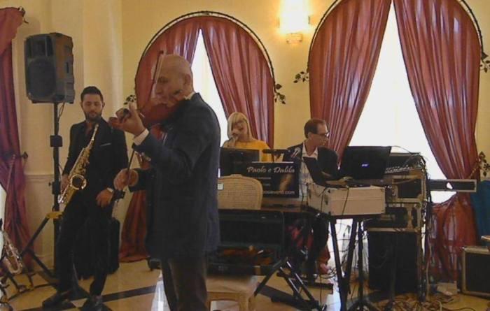 Band per musica matrimonio Lecce composto da violino e sax