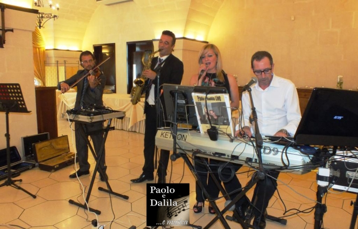 Musica per matrimonio Lecce con la band violino e sax