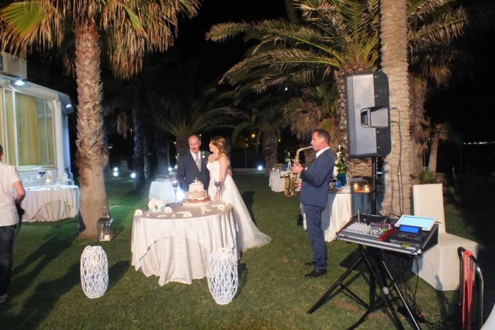 Matrimonio Lecce musica con il sassofonista per il Taglio della Torta