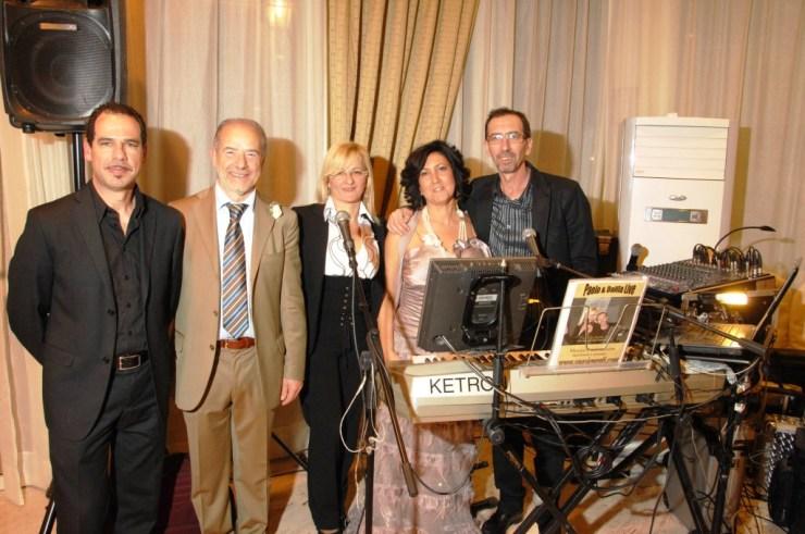 Nicola e Antonella sposi ringraziano i musicisti