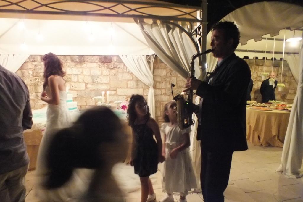 matrimonio Lecce sassofonista per il taglio della Torta