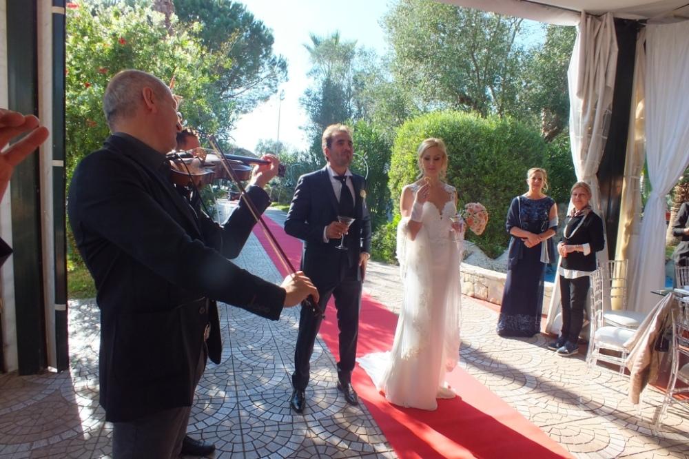 Gruppo musicale per la musica matrimonio Lecce con violinista