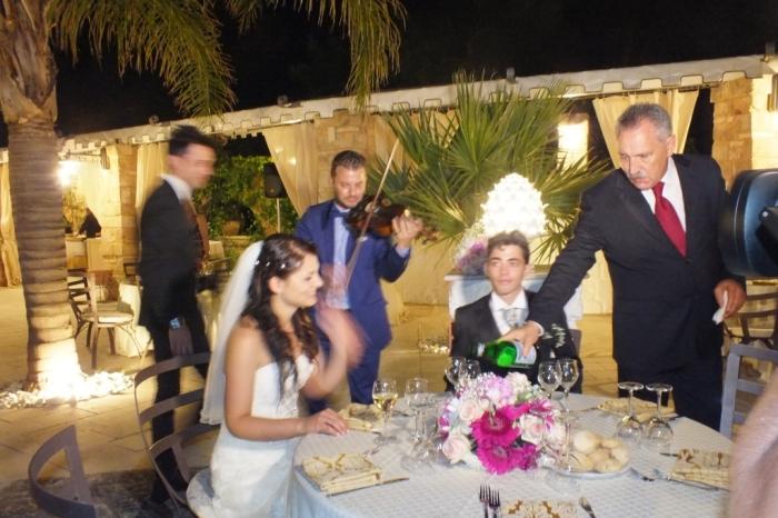 violinista Lecce per la musica del matrimonio a Villa elda
