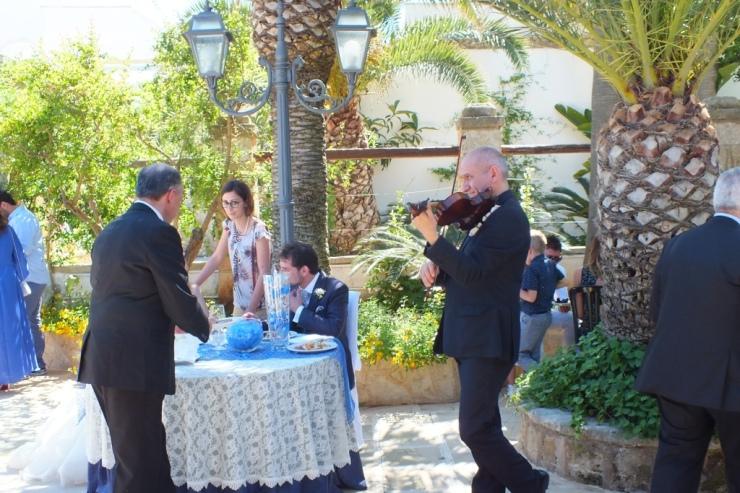 Band con sax e violino per musica matrimoni Lecce