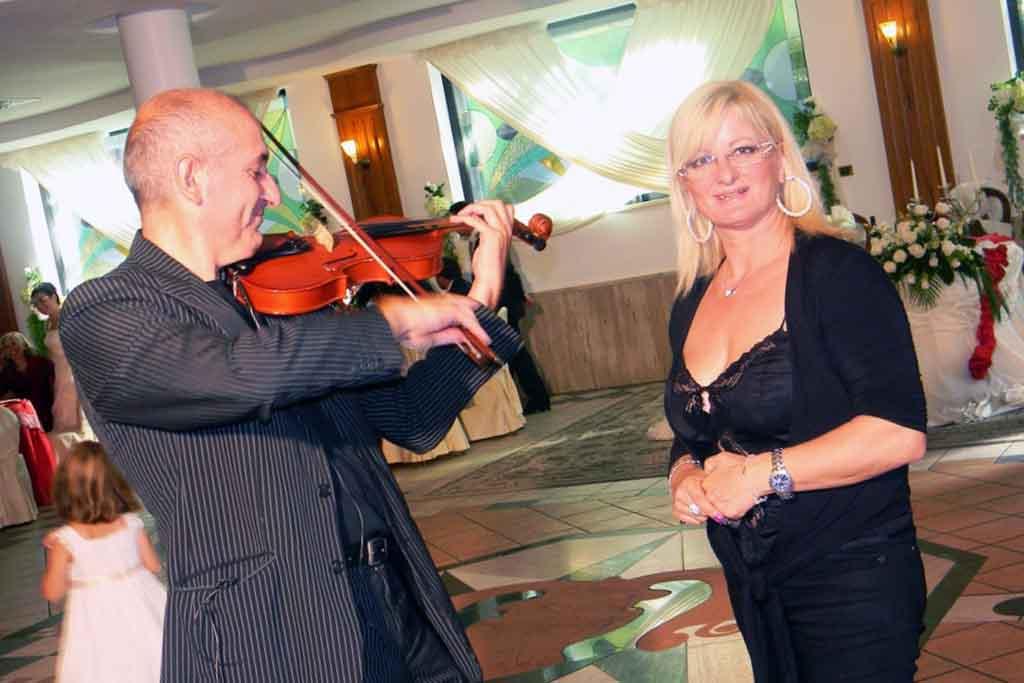 Violinista Matrimonio location Villa dei Sogni