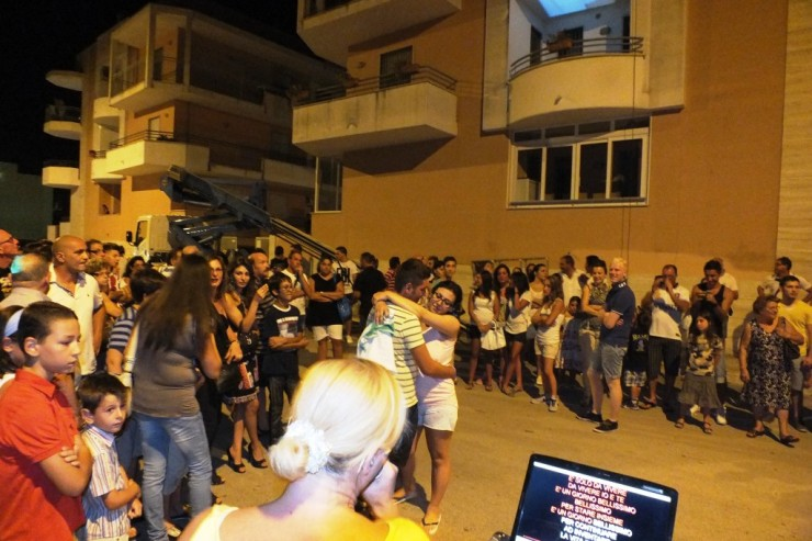 Noicattaro in Provincia di Bari, la serenata