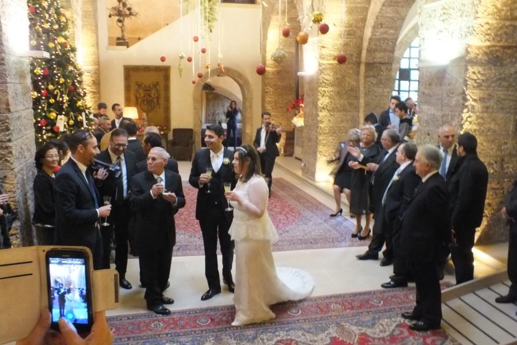 Gruppo musicale che suona a Castello Monaci