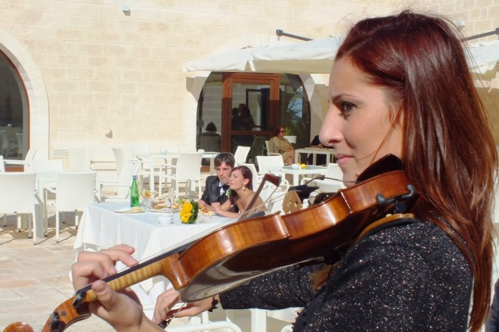 Violinista matrimonio Brindisi ricevimento masseria Caselli