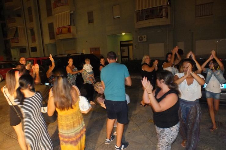 gruppo per l'animazione della serenata a Taranto