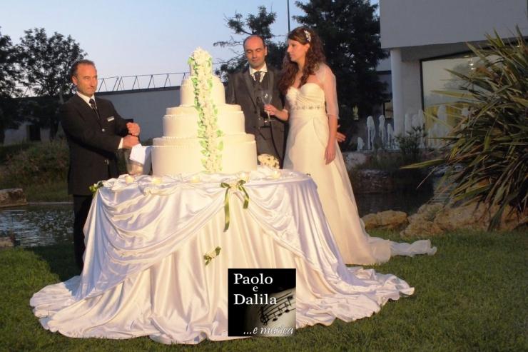 Paolo e Dalila Live musica per matrimonio presso la slala ricevimenti di brindisi Tenuta Moreno