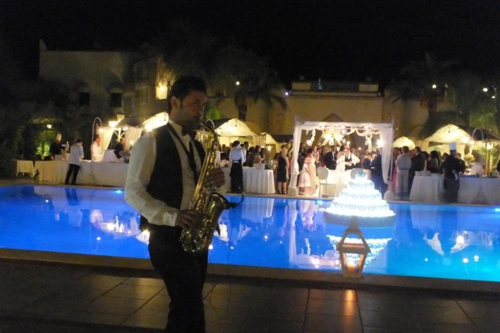 San Giorgio Resort sassofonista per musica matrimonio