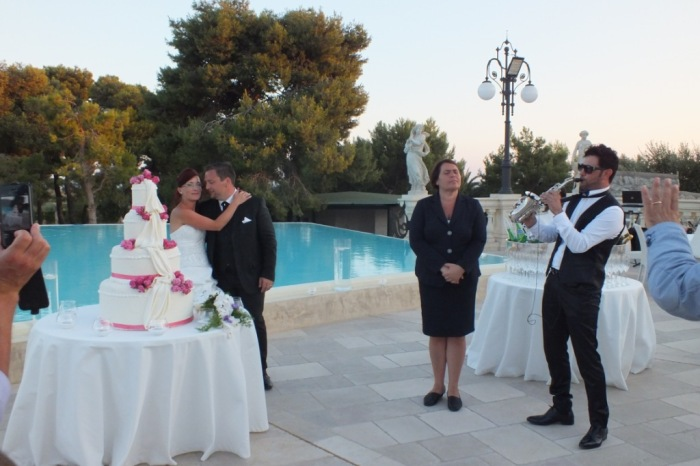 Sassofonista matrimonio Taranto