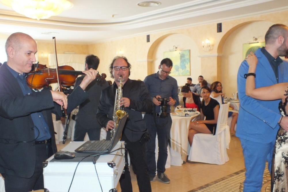 duetto con violino e sax della band per musica matrimonio Lecce Paolo e Dalila Live