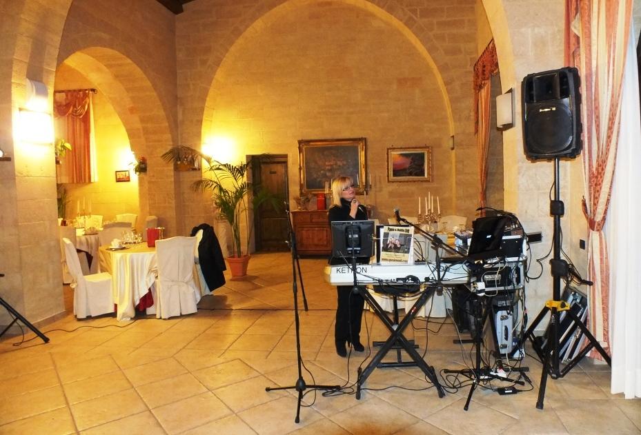 Dalila cantante del gruppo per la musica del matrimonio Lecce