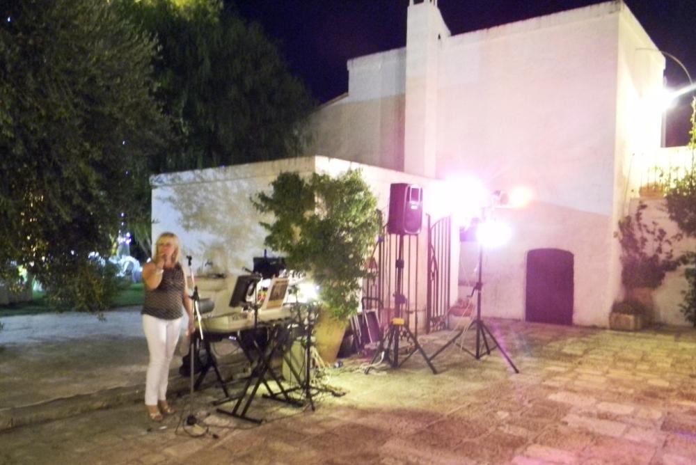 Paolo e Dalila Live suonano alla Masseria La Brunetta a Massafra in provincia di Taranto