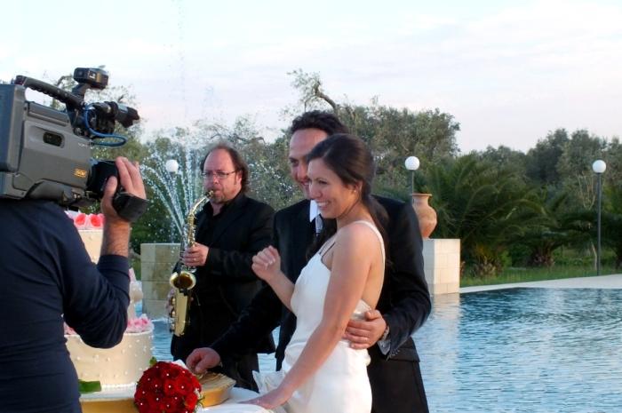 Masica per il matrimonio a Lecce con il sassofonista per il taglio della Torta nuziale
