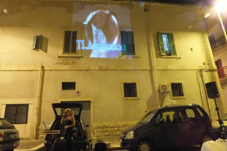 La serenata evento ideata da Paolo e Dalila Live e realizzata a Giovinazzo in Provincia di Bari