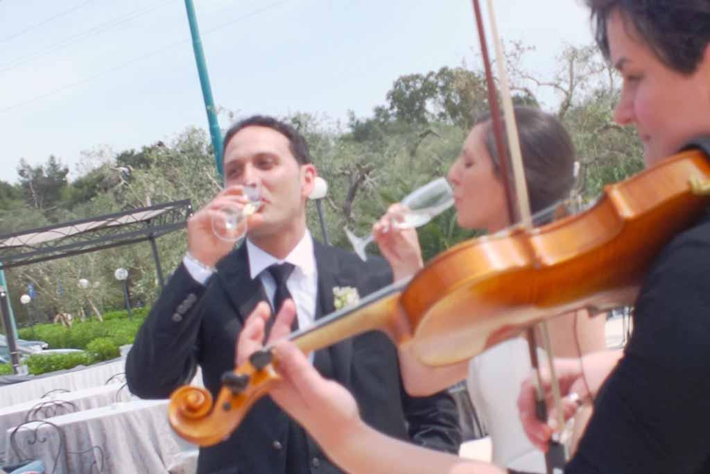 Violinista matrimonio Tenuta Caradonna