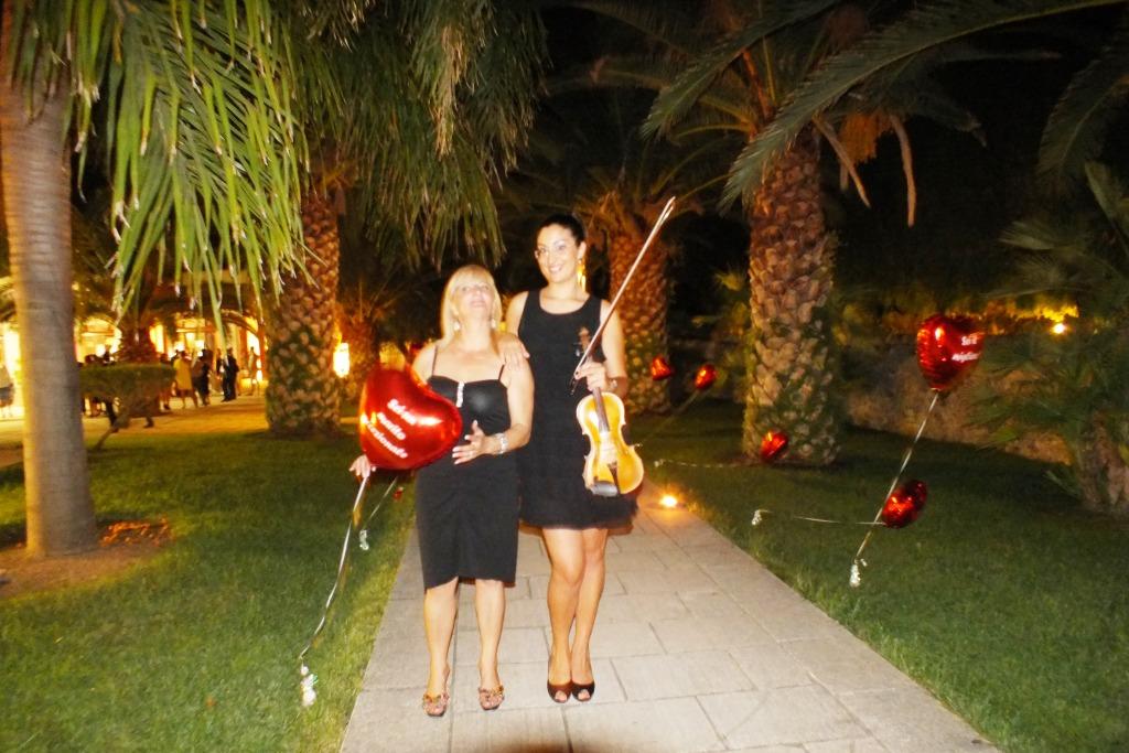 Violinista del gruppo di Paolo e Dalila Live di Lecce
