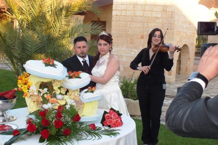 Carla de Fabrizio violinista matrimonio Lecce