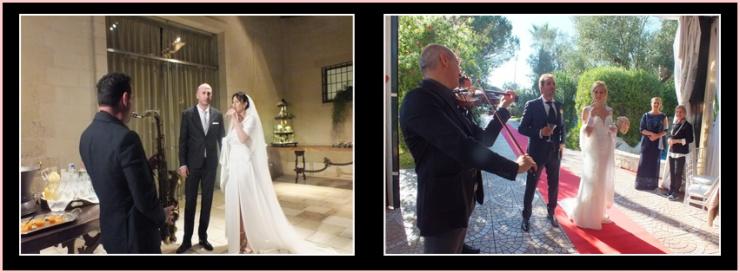 Musica per matrimonio a Lecce e provincia accoglienza sposi con violino o sassofono