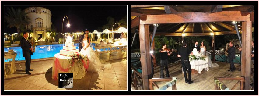 musica per matrimonio lecce con sax e violino per il taglio della torta nuziale da parte degli sposi