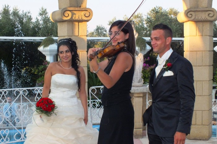 Paolo e Dalila Live band con violino e sax per musica matrimonio Lecce
