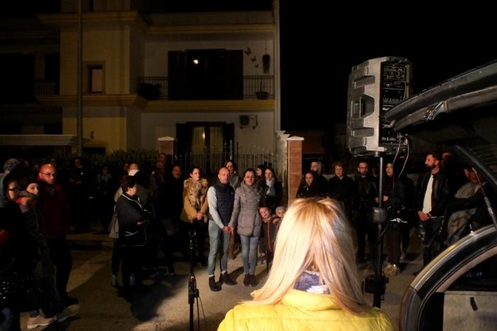Gruppo di musicisti per la serenata a Taranto