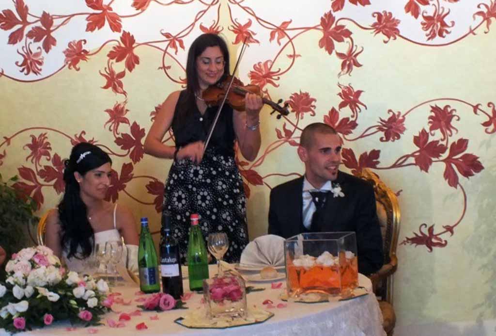 Ristorante Re dei Re violinista musica matrimonio
