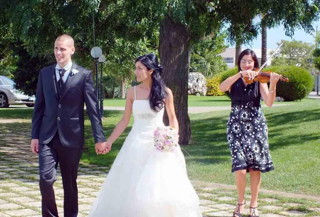 Violinista matrimonio Re dei Re Surano