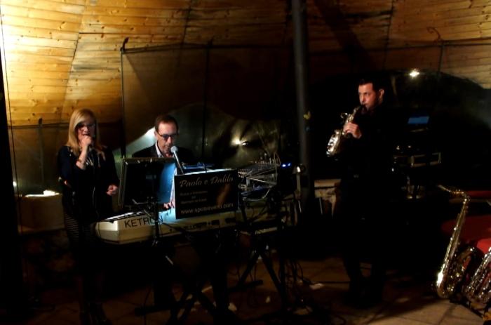 Il trio musicale con sax del gruppo di Paolo e Dalila Live per la musica del matrimonio a Lecce