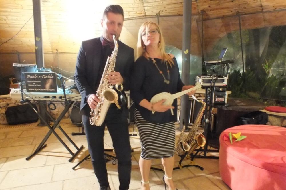 Gruppo con sassofonista per musica matrimonio Lecce