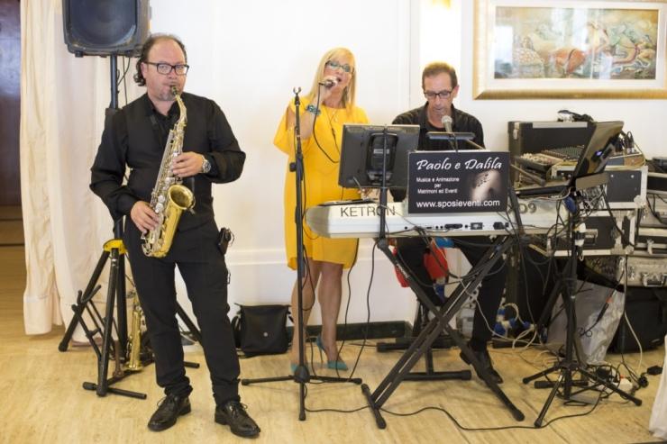 Paolo e Dalila Live trio con sax per musica matrimonio Lecce