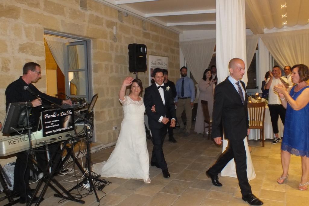 Paolo e Dalila Live gruppo musicale per il matrimonio presso la masseria Relais Santa Teresa a gallipoli