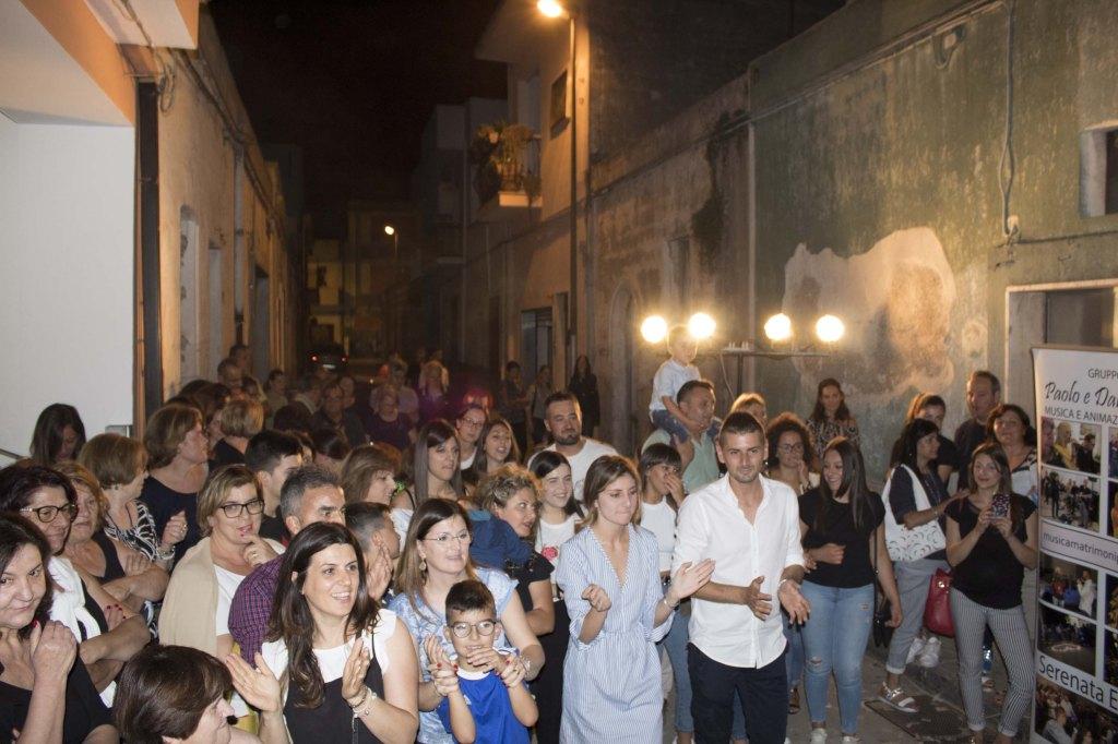 la sera prima del matrimonio a Taranto e Provincia di organizza la serenata alla sposa