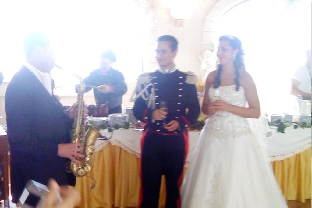 Gruppo musicale che ha suonato durante un matrimonio al villaggio San Giovanni