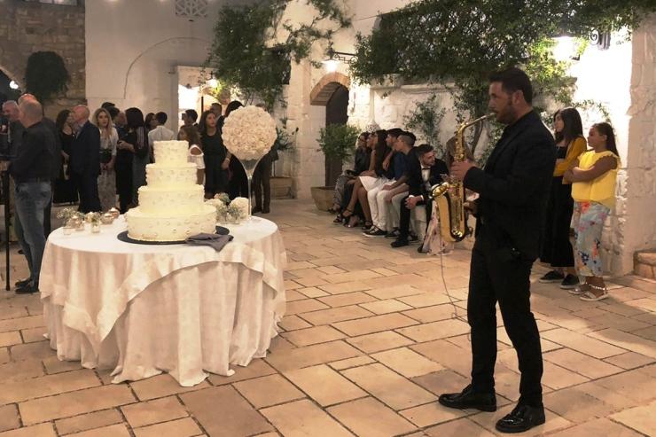 Matrimonio in provincia di Lecce sassofonista