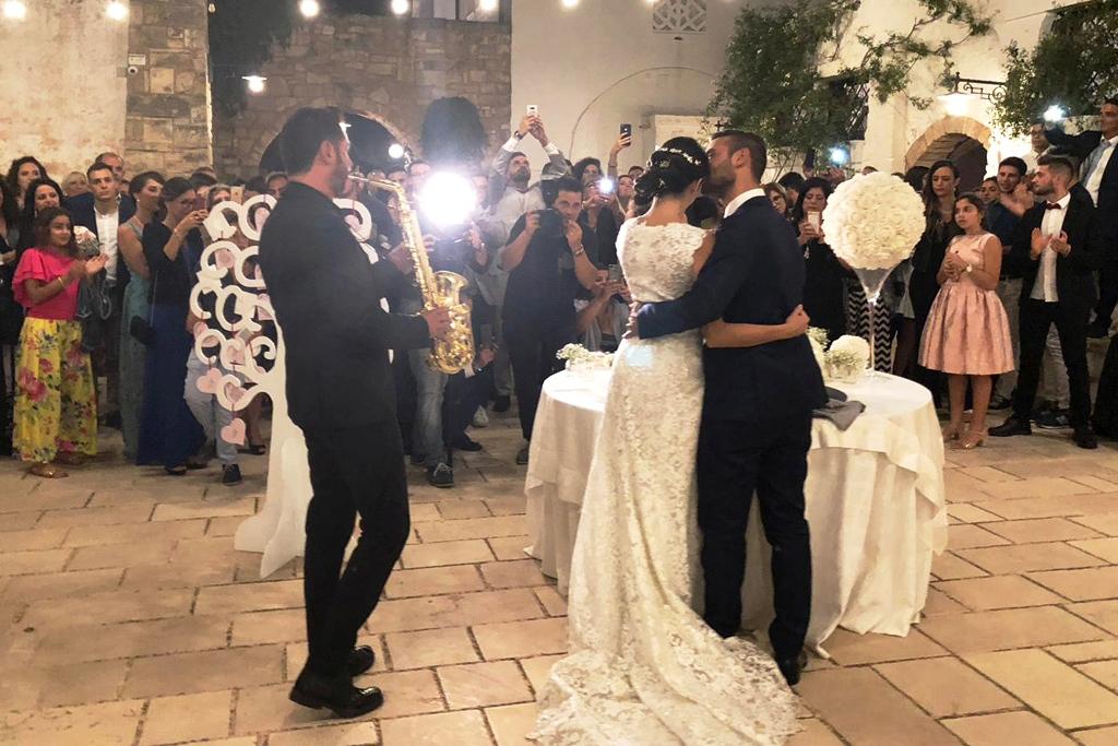 Sax musica matrimonio Lecce Villa Elda a Ugento