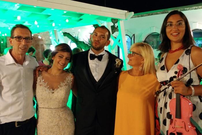 Parco dei principi a Ugento, Maria Crsitina e Nicola sposi