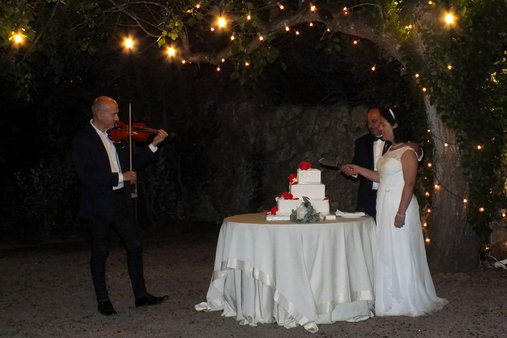 Violino per musica matrimonio Tenuta Tresca