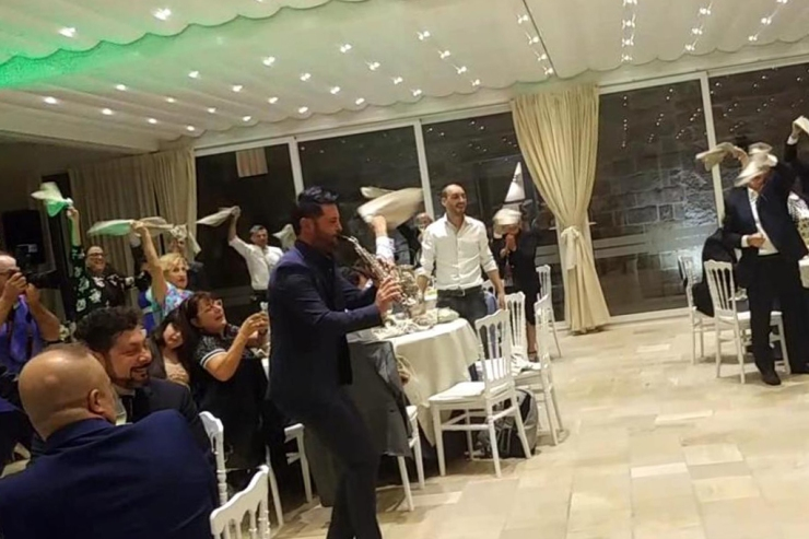 Sassofonista per la musica del matrimonio in Puglia