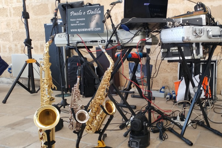 musica per matrimonio nel Salento con il sax