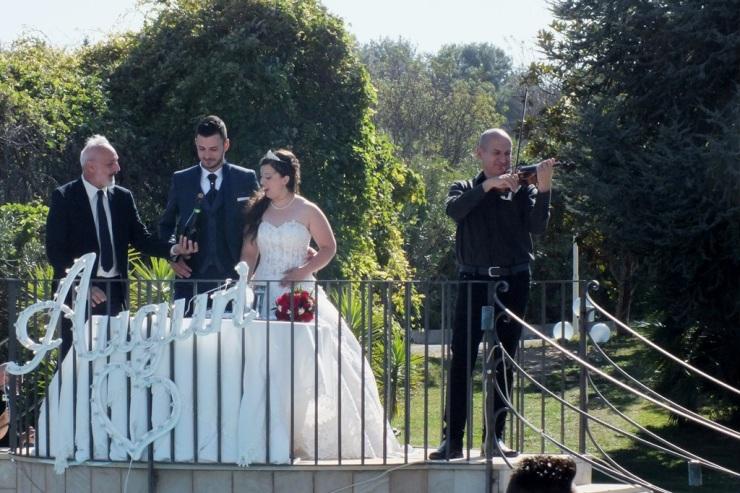 Violinista musica accoglienza sposi matrimonio Lecce