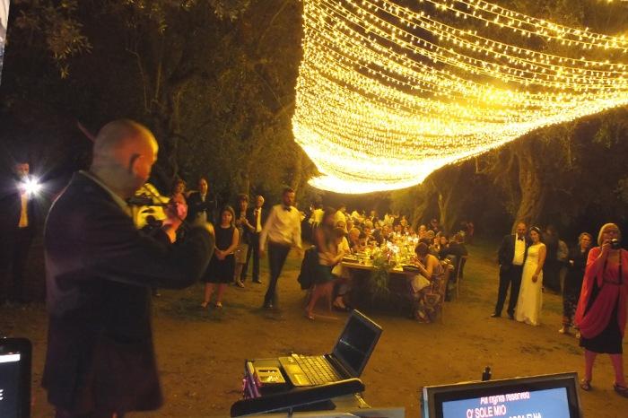 Violinista Marcello Baldassarre a Tenuta Tresca per la musica del matrimonio