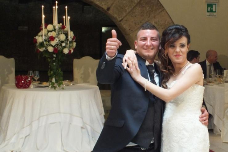 Castello Monaci, Benito e Roberta sposi con la musica del gruppo di Paolo e Dalila Live