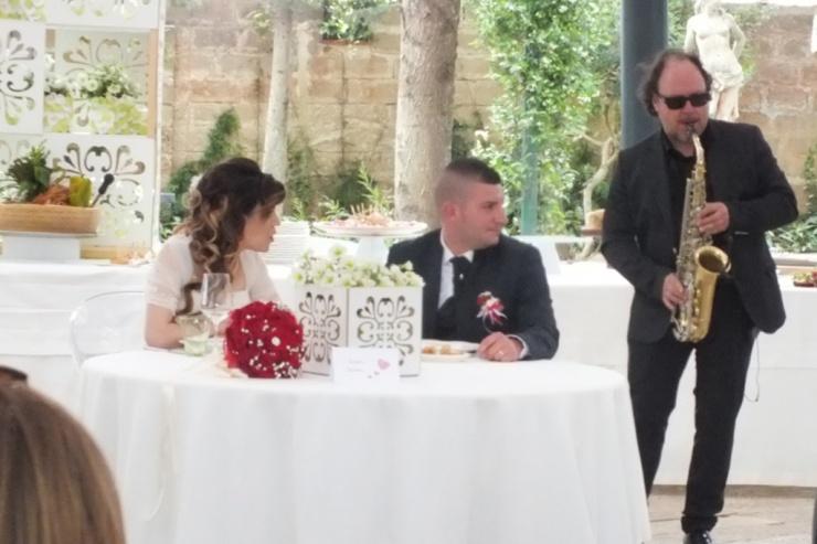 Band per intrattenimento musicale durate un matrimonio a Castello Monaci